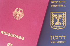 Israeli and German passport Royalty Free Stock Photo
