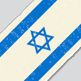 Israeli grunge flag. Vector illustration. Royalty Free Stock Photo
