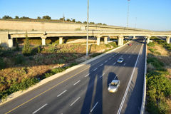 Israeli highway. Royalty Free Stock Images