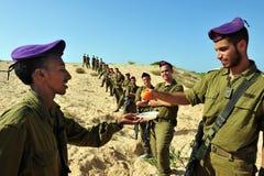 Israeli IDF soldiers Celebrate Rosh Hasahanah Royalty Free Stock Image