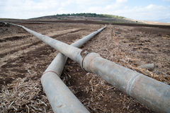 Israeli Irrigation Pipes Stock Photo