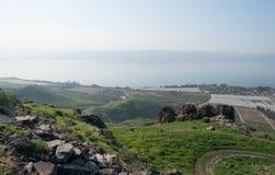 Israeli landscape near Kineret lake Stock Photos