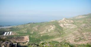 Israeli landscape near Kineret lake Royalty Free Stock Images