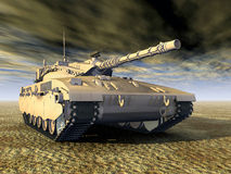 Israeli Main Battle Tank Stock Image