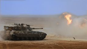 Israeli merkava tank royalty free stock photo