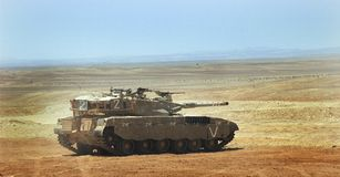 Israeli merkava tank Royalty Free Stock Photography