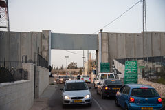 Israeli military checkpoint Royalty Free Stock Photos