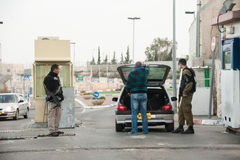 Israeli military checkpoint Stock Image