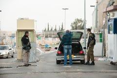 Israeli military checkpoint Stock Image