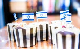 Israeli mini flags tasty Royalty Free Stock Photography