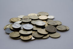Israeli money. Coins of israeli shekels and agorot Stock Photography