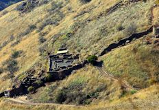 Israeli national park Gamla fortress at the Golan Heights royalty free stock photography