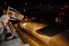 Israeli Navy - Israeli Submarine. HAIFA, ISR - DEC 16 2007: Israeli submarine in Haifa port on Dec16 2007. The Israeli submarine flotilla is elite and voluntary royalty free stock images