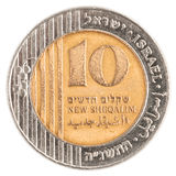 10 Israeli New Sheqel coin Royalty Free Stock Photography