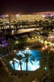 The Israeli night in Eilat Royalty Free Stock Photos