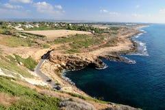 Israeli Northern coastline. Royalty Free Stock Image