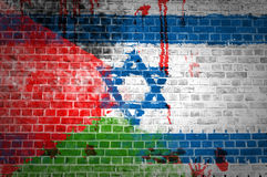 Israeli occupation. An image depicting the occupation by Israel on Palestine and the bloodshed it's brought with it Stock Photos