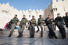 Israeli occupation in East Jerusalem Royalty Free Stock Images