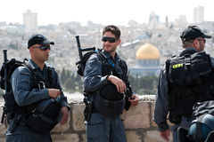 Israeli Occupation in Jerusalem Stock Photos