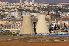 Israeli oil refinery in Haifa, Israel Stock Photos