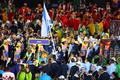 Israeli Olympic team marched into the Rio 2016 Olympics opening ceremony at Maracana Stadium in Rio de Janeiro Royalty Free Stock Photo