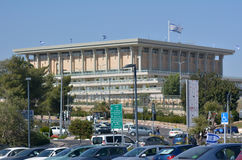 The Israeli parliament building in Jerusalem, Israel. JERUSALEM, ISR - MAR 19 2015:knesset, the Israeli parliament building in Jerusalem, Israel.It's the Royalty Free Stock Photography