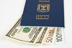 Israeli passport Royalty Free Stock Photos