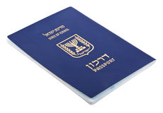 Isolated Israeli Passport Stock Images
