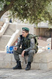 Israeli police man Royalty Free Stock Photo