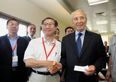 Israeli President Shimon Peres. Royalty Free Stock Images