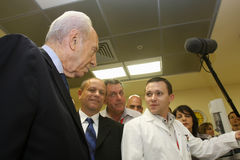 Israeli President Shimon Peres. Royalty Free Stock Photo