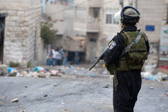 Israeli Riot Police Stock Image