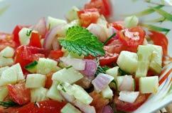 Israeli salad. Mediterranean sallad close up stock images