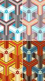 Israeli Seamless Pattern Royalty Free Stock Photography