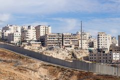 The Israeli security fence separating Israel from the West Bank of Jordan - Judea and Samaria