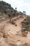 Israeli Separation Barrier Construction Stock Images