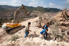 Israeli Separation Barrier Construction Royalty Free Stock Photography