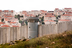 Israeli Separation Barrier and Illegal Settlement Stock Photography