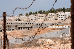 Israeli Settlement Construction. GILO, OCCUPIED PALESTINIAN TERRITORIES - NOVEMBER 13: Construction continues on the Israeli settlement Gilo and the separation Stock Images