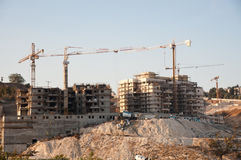 Israeli Settlement Construction Royalty Free Stock Photos