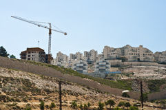 Israeli Settlement Construction Royalty Free Stock Photo