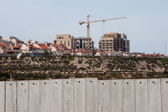 Israeli settlement and separation wall Royalty Free Stock Images