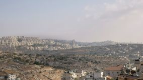 Israeli settlements in the disputed palestinian territory. As seen from bethlehem royalty free stock images
