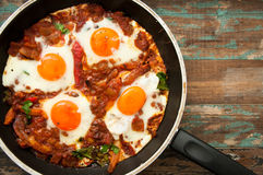 Israeli shakshouka breakfast Stock Photography