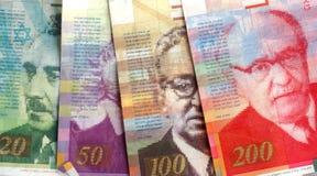 Israeli Shekel Bills #2. All the major Israeli Shekel bills in one shot royalty free stock image