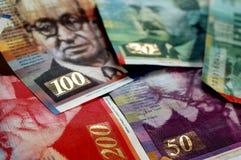 Israeli Shekel Bills #3. A shot of the main Israeli Shekel bills stock images