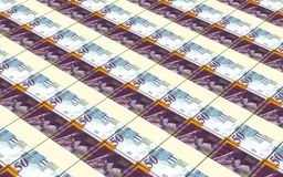 Israeli Shekel bills stacks background. Royalty Free Stock Images