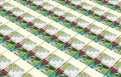 Israeli Shekel bills stacks background. Stock Images