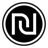 Israeli Shekel currency symbol Stock Photo