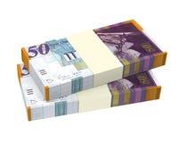 Israeli Shekel money isolated on white background. Royalty Free Stock Image